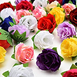 Fake flower heads in Bulk Wholesale for Crafts Artificial Silk Peony Flower Heads for Wedding Home Party Decoration DIY Bride Bouquet Mini Fake Flower 30pcs 4cm 83