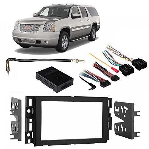 Fits GMC Yukon XL Denali 2007-2014 Double DIN Harness Radio Install Dash Kit