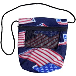 Bonding Carry Pouch (American Flag) for Sugar Gliders and small pets