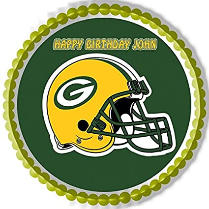Outstanding Decor Edible Cake Topper Or Cupcake Topper Greenbay Packers Home Personalised Birthday Cards Rectzonderlifede
