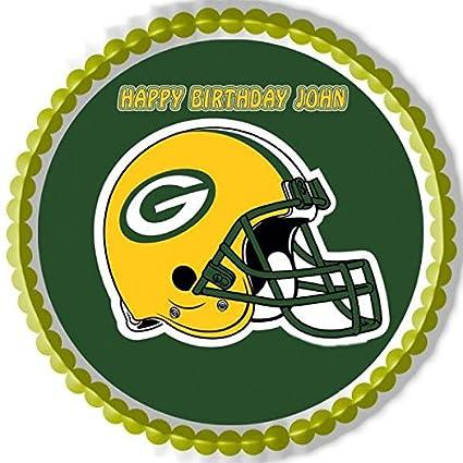Fine Decor Edible Cake Topper Or Cupcake Topper Greenbay Packers Home Personalised Birthday Cards Veneteletsinfo