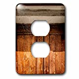 3dRose Alexis Photography - Architecture - Cobwebbed wooden door of an old house. No entrance - Light Switch Covers - 2 plug outlet cover (lsp_273697_6)