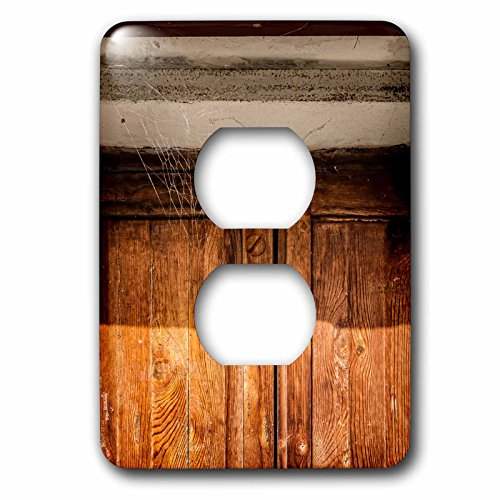 3dRose Alexis Photography - Architecture - Cobwebbed wooden door of an old house. No entrance - Light Switch Covers - 2 plug outlet cover (lsp_273697_6) by 3dRose