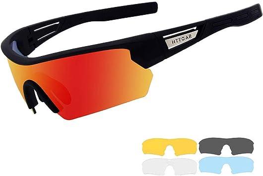 Gafas de Sol Deportivas/Gafas De Sol Polarizadas para Ciclismo , con 5 Set De Lentes Intercambiables para Hombre Mujer(Black): Amazon.es: Deportes y aire libre