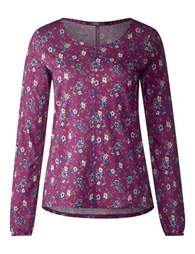 Pink Manga Mujer Larga fuchsia Camiseta Cecil Mehrfarbig 31440 Para De Pwfw6vqg