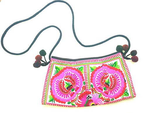 bag sling white tribe hill embroidered amp; pink body cross Beautiful ethnic aPfSqvq