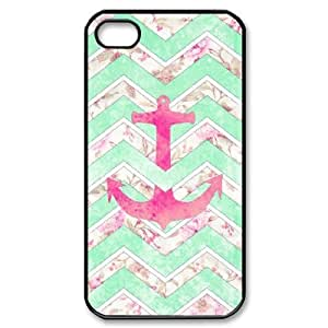 ALICASE Diy Customized hard Case Anchor Chevron For Iphone 4/4s [Pattern-1]