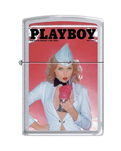 (Zippo Playboy Cover May 1977 Pocket Lighter, Satin Chrome)