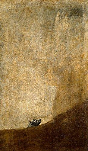 The Dog (Artist: Francisco de Goya) c. 1820 - Masterpiece Classic (12x18 Art Print, Wall Decor Travel Poster) ()