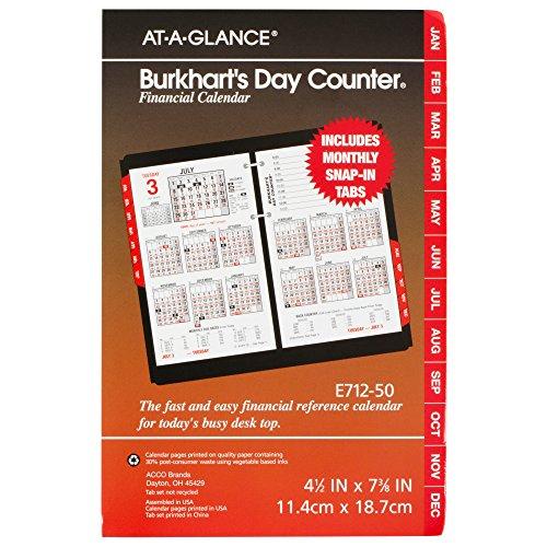 At A Glance Desk Calendar Refill 2016 Burkhart S Day
