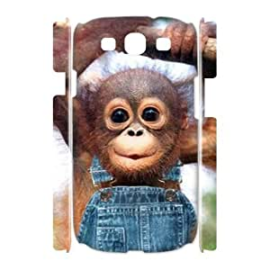 Monkey 3D-Printed ZLB822114 Customized 3D Phone Case for Samsung Galaxy S3 I9300
