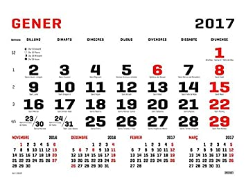 Ingraf 948168 - Faldilla para calendario de pared mensual ...