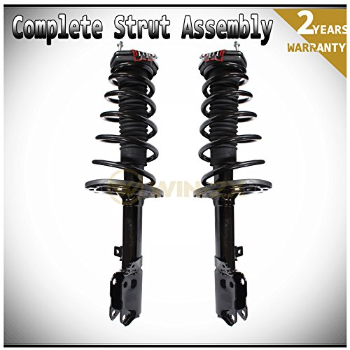 WIN-2X New 2pcs Rear Left & Right Side Quick Complete Suspension Shock Struts & Coil Springs Assembly Kit Fit 04-06 Lexus ES330 04-06 Toyota Camry 05-06.1 Avalon 04-06.6 Solara 0.1% Suspension