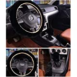 """3 Pcs 1 Set Winter Warm Steering Wheel Cover with Handrake Cover & Gear Shift Cover for 14.96"""" X 14.96"""" Steeling Wheel in Diameter"""