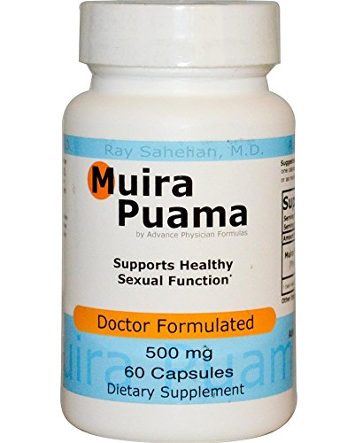 Muira Puama Root (2 Bottles Muira Puama Extract Potency Wood Libido Supplement for Men and Women, 500 mg, 60 Capsules - Endorsed by Dr. Ray Sahelian, M.D)