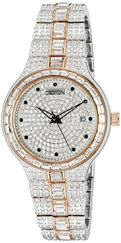 Croton Mens Quartz Watch - CROTON Men's CN307540TTPV Analog Display Quartz Two Tone Watch