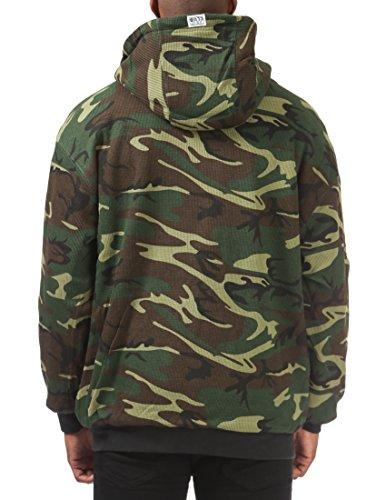 Pro Club Men's Full Zip Reversible Fleece and Thermal Hoodie 4