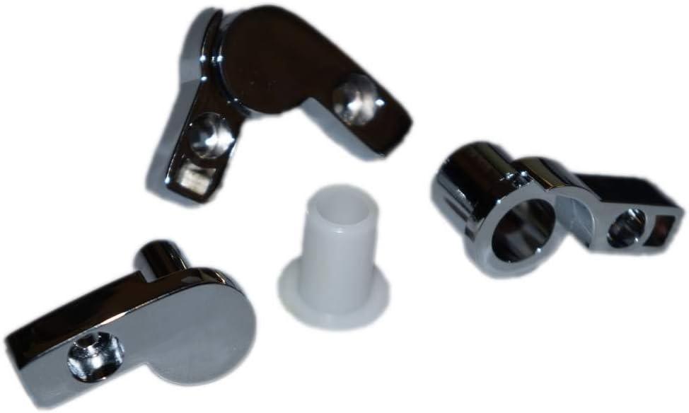 Novellini-con bisagras de cromo de pared para bañera Aurora 2-4-5 ...