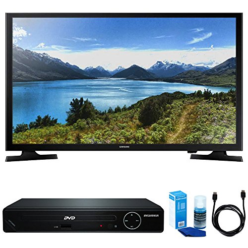 Samsung UN32J4000 32-Inch 720p LED TV w/HDMI DVD Player Bundle Includes, HDMI 1080p High Definition DVD Player with USB Port, 6ft High Speed HDMI Cable and LED TV Screen Cleaner