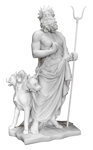 Top Collections Hades and Cerberus Statue – Hades and the Guardian of the Underworld Sculpture in Cold-Cast Marble – 11.25-Inch Collectible Greek Mythology Figurine