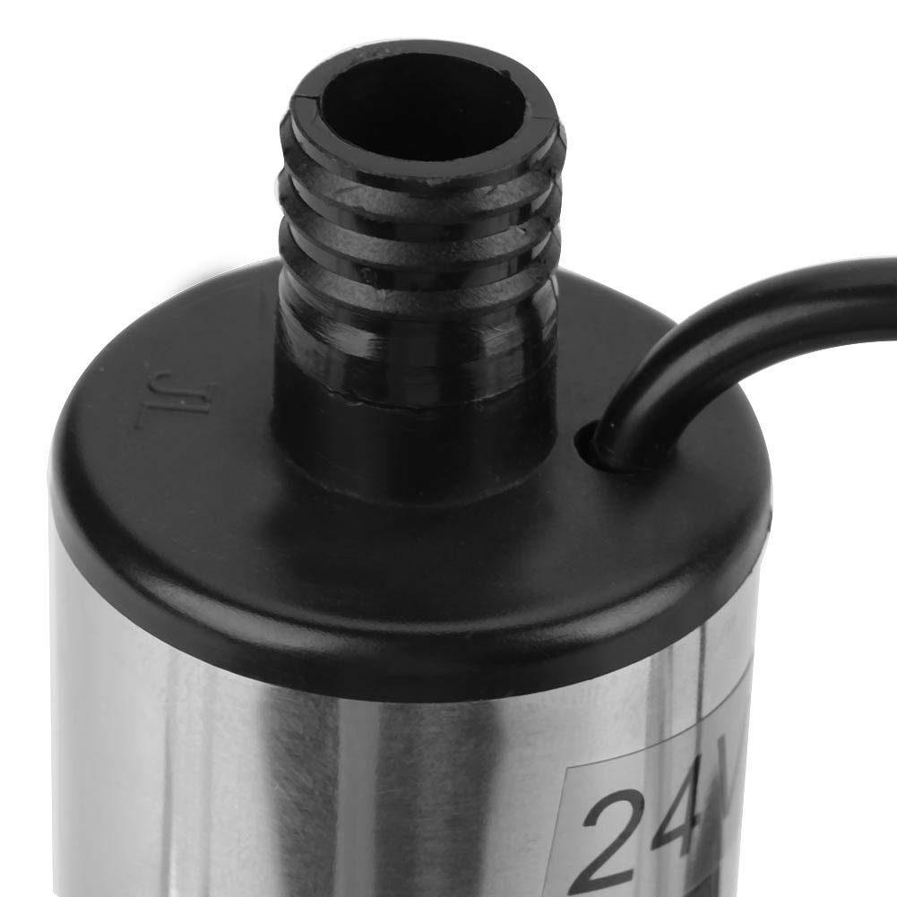 Pump DC 24V 5A 35-40L//min High Efficiency Stainless Steel Submersible Pump for Water Diesel Oil Kerosene Refueling Tool Suitable for Construction Machinery