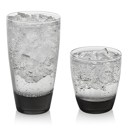 Libbey Classic Smoke 16-Piece Tumbler and Rocks Glass Set