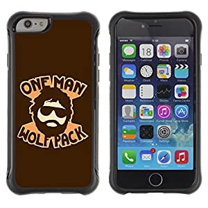 Hybrid Anti-Shock Defend Case for Apple iPhone 5C Inch / Hangover One Man Wolf Pack