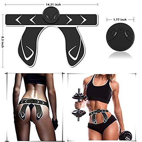BENVWE Butt Hips Trainer,Booty Lifter Electronic Hip Muscle Trainer with 6 Modes 10 Levels for Women Home Gym Muscle Toner Rechargeable EMS Muscle Stimulator AB Shocker Butt Enhancer