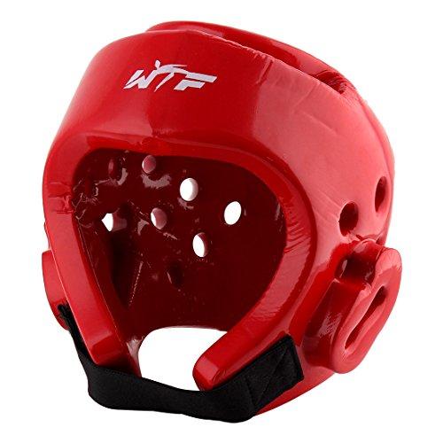 uxcell Adjustable Headband Kick Boxing Boxer Sparring Headguard Helmet Hat