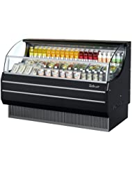 Turbo Air TOM75SB 75 Open Display Merchandiser with Modern Design Environmental Friendly Refrigeration System Glass Sides Anti-Rust Coating High Density PU Insulation and Improved Air Flow: