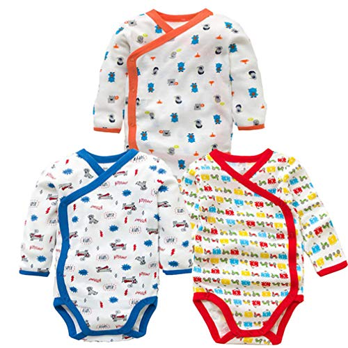 - 3 Pcs/Lot Baby Bodysuits Infant Long Sleeve Baby Clothes