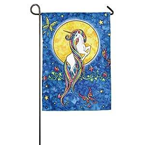 Unicornio con pelo de arcoiris jardín bandera banderas decorativa para interior y exteriores para desfile deportivo juego fiesta familiar pared pancarta,