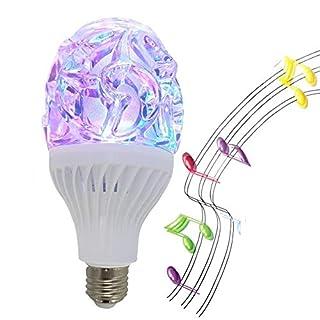 RGB LED Bluetooth Speaker, Disco Light Bluetooth Bulb Speaker, Night Disco Light, Luz Light, Remote Control Stand, Smart Color Light Bulb, Disco Light Bulb, Party-1PK