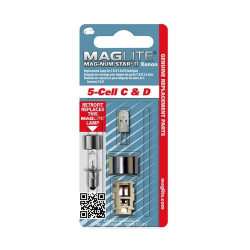 Maglite Mag-Num Star Xenon C-Cell or D-Cell Flashlight Replacement Bulb Flavor For 5 D-Cell Maglite