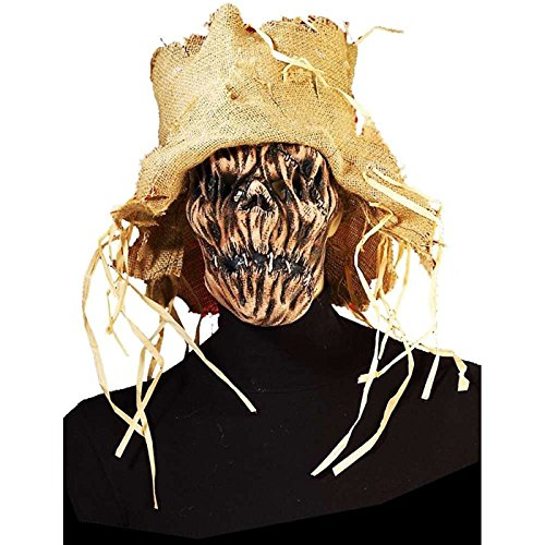 Forum Novelties Men's Mask-Scarecrow, Multi Color, Standard (Latex Scarecrow Mask)