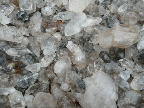 (Fantasia Materials: 2 lbs Rare Tibetan Quartz - Unique Formations - Raw Natural Crystals for Cabbing, Cutting, Lapidary, Tumbling, Polishing, Wire Wrapping, Wicca and Reiki Crystal)