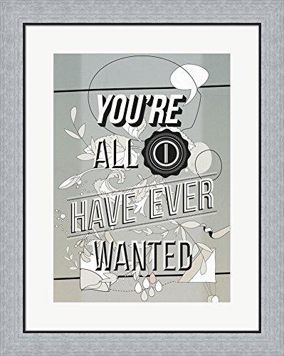 Amazon.com: All I Want by Kavan & Company Framed Art Print Wall ...