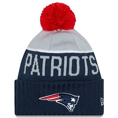 New England Patriots 2015 On-Field Pom Knit-10176 by New Era