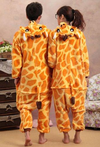 Unisex giraffe Costume Pyjamas with a Free gift WantDo Sock