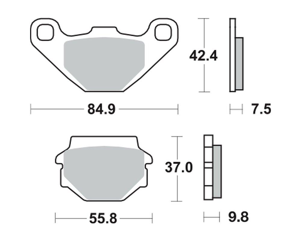 KL650A 87-89 1x TRW Bremsbeläge vorne Kawasaki KLR 650
