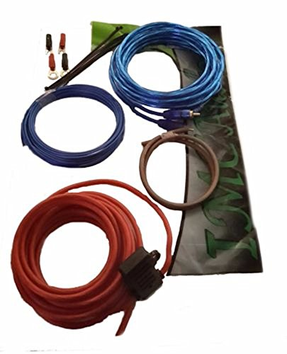 8 Gauge Amplifier Power Kit Install Amp Wiring w/RCA & Ground Cable Red 1500W