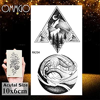 tzxdbh Outspace Women Planet Brain Tattoo Sticker Impermeable ...