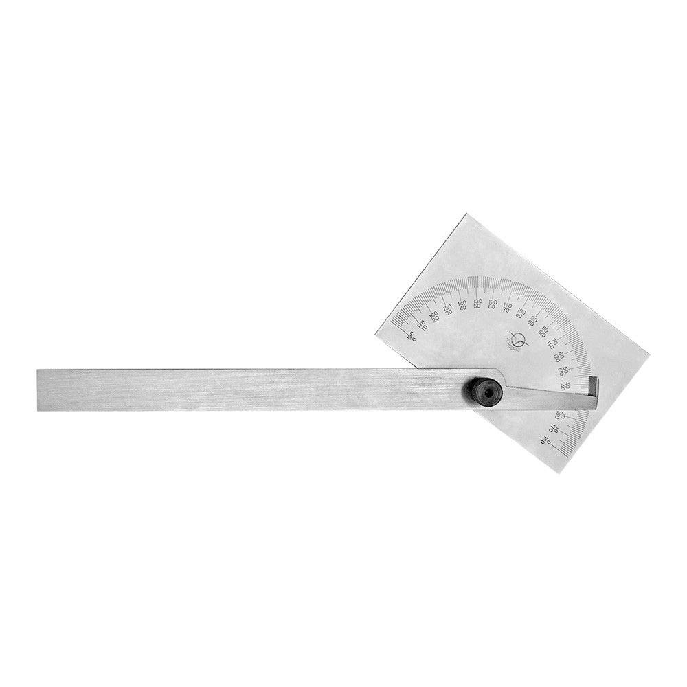 180 Degree Square Head Depth Gage Protractor Gauge Ruler Stainless Steel