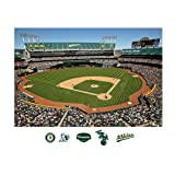MLB Oakland Athletics Inside Oakland-Alameda County Coliseum Mural Wall Graphic