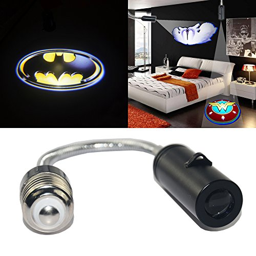 Spoya 3D Batman badge shield Home Bedroom Hotel Bar E26 E27 Ceiling wall CREE LED logo projection projector light spot light downlight decorative light lamp Bulb