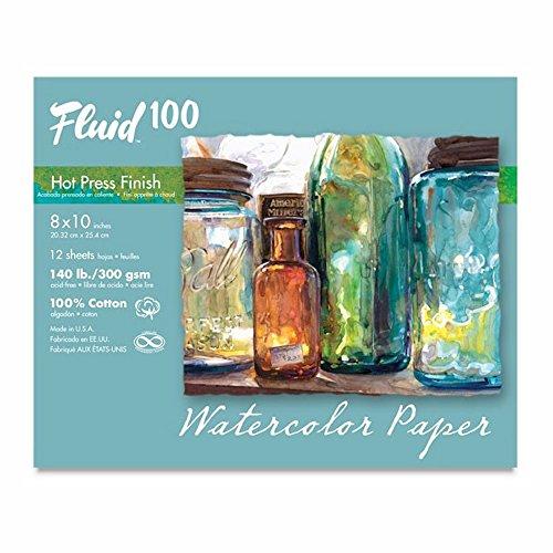 Handbook Paper Fluid 100 Watercolor Hp 140Lb Pochette 8X10