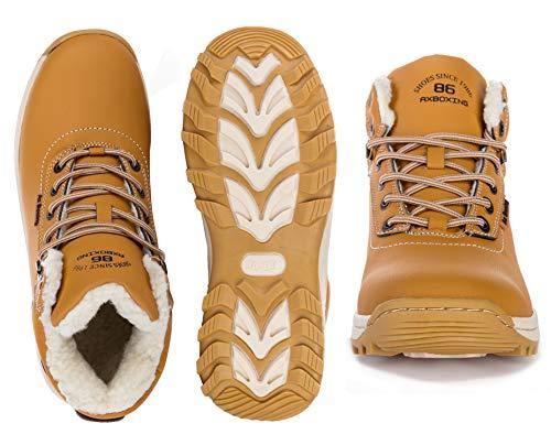 Caviglia Uomo Stivaletti Stivali Sportive Scarpe Boots A7445 Allineato Caloroso Escursionismo Neve Da Abtop giallo Pelliccia Invernali Piatto RzPdqRn