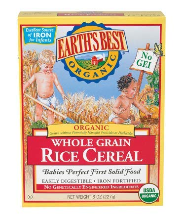 Earth's Best Organic Whole Grain Rice Cereal 8.0 oz. (pack of 3)