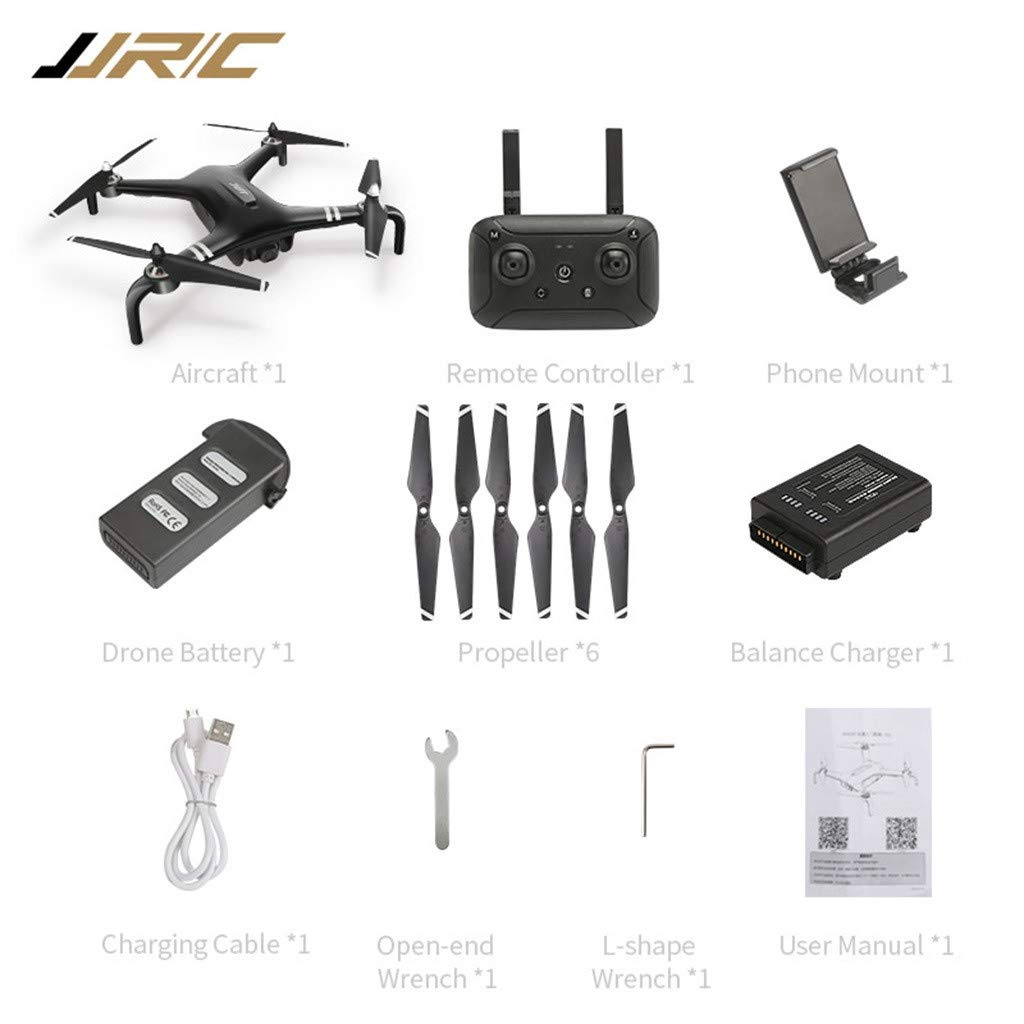 MOZATE JJRC X7 5G-WiFi FPV GPS 1080P HD Camera Remote RC Drone Quadcopter Altitude Hold (Black) by MOZATE (Image #7)