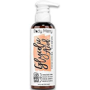 Glycolic Acid Exfoliating Cleanser Anti-Aging Face Wash